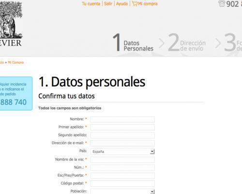 Elsevier - checkout